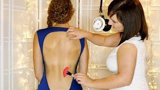 ASMR Massage & Back Tickling ♥ 3Dio Binaural Ear to Ear Whispering For Sleep