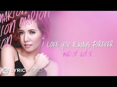 Xxx Mp4 Marion I Love You Always Forever Official Lyric Video 3gp Sex