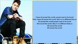 Justin Bieber & Ludacris - All Around The World /\ Lyrics On A Screen