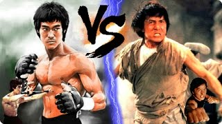 Bruce Lee VS Jackie Chan! | 2 TITANS OF KUNG FU ☯ (Jeet Kune Do vs Wushu) Chinese Martial Arts! ᴴᴰ