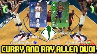 CURRY AND RAY ALLEN DYNAMIC DUO! 3 POINT CHEESE! NBA 2K18 MYTEAM GAMEPLAY
