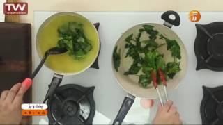 آشپزی آسان سوپ اسفناج