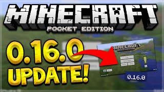 MCPE 0.16.0 UPDATE OUT?!? - Minecraft Pocket Edition FAKE 0.16.0 APK Gameplay (Minecraft PE)