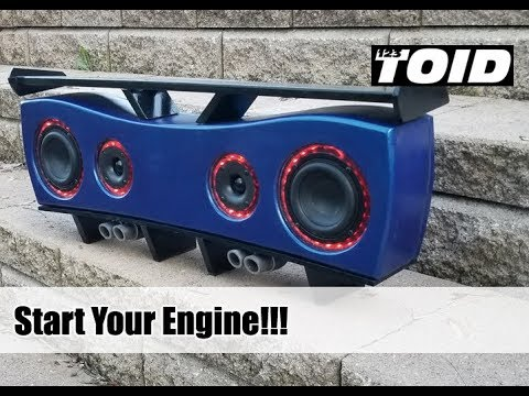 Homemade Portable Bluetooth Boombox Speaker 2.0 - video download on diy guitar wiring diagram, diy speaker wiring diagram, diy home wiring diagram,