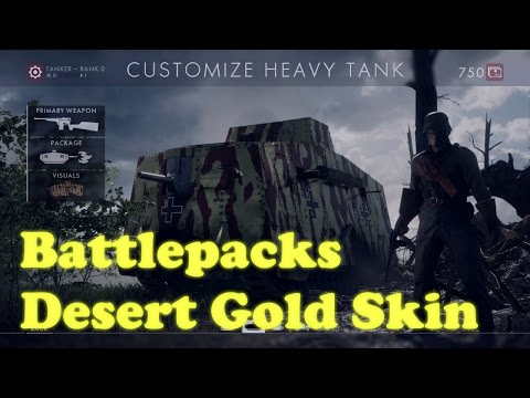 Battlefield 1 - Desert Gold Skin