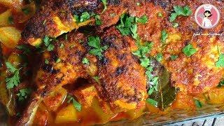 دجاج المشوي في الفرن بتتبيلة مميزة و بنكهة شهية ولذيذة لا يقاوم مع رباح محمد ( الحلقة 369 )