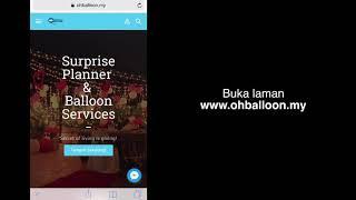 Bagaimana menempah Surprise Package Oh Balloon di laman web dengan mudah