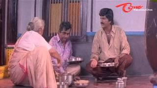 Mohan Babu & Brahmanandam Comedy Scene While Having Lunch
