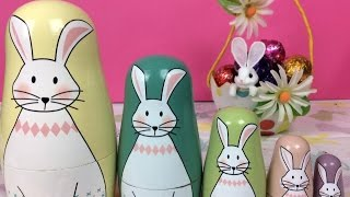 Easter Eggs 2017 Surprise Eggs Easter Bunny Kinder Nesting Cups  Stacking Cups Toys In Action