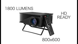 """T1 MINI HD READY LED Projector Play PS4, Watch Movies on BIG 70"""" screen"""