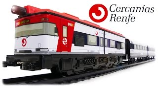 TRAINS FOR CHILDREN VIDEO: Pequetren Ref. 675 Renfe Spanish Train Toys Review