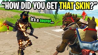 This HACKER gave me EARLY Halloween skins on Fortnite and I used them...