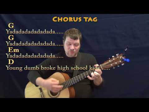 Young Dumb & Broke (Khalid) Guitar Cover Lesson in G with ChordsLyrics - G Em D