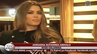 Interview TV-Patrol With Miss Colombia Ariadna Gutierrez