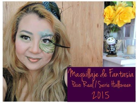 Halloween Maquillaje de Fantasía Pavo Real