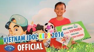 VIETNAM IDOL KIDS - THẦN TƯỢNG ÂM NHẠC NHÍ 2016 - HỒ VĂN CƯỜNG NHẬN HỌC BỔNG TỪ KUN