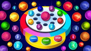 Space Balls Dancing Machine Game on Finger Family Song by KidsCamp