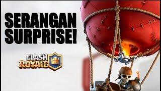 SERANGAN SURPRISE BALON! TOWER DIJAMIN RONTOK! • Clash Royale Indonesia