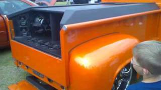 Elvetham Heath Car Show 2009 - Modified Pickup Truck w/ Fusion Audio AWESOME BASS!!!