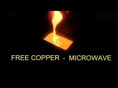 Free Copper Copper Bar from a Microwave Oven