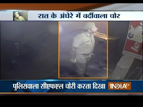 Viral Video: JK Police SI Engaged in Theft of CFL Bulbs in Jammu - India TV