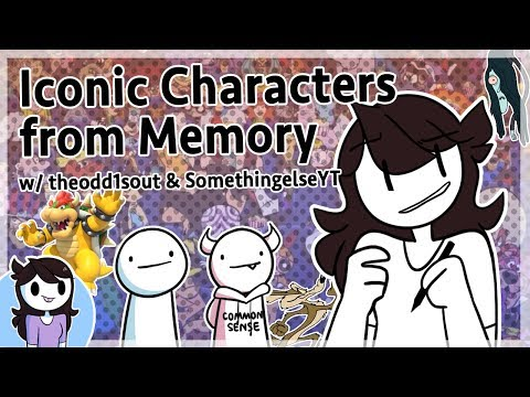 Drawing Characters from Memory w theodd1sout & SomethingElseYT
