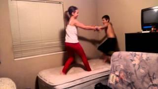 wwe match girl vs boy