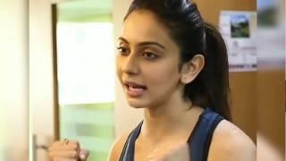 HOT Gym Workout by telugu actress rakulpreet