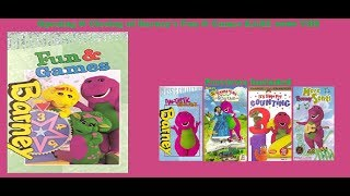 Barney's Fun and Games RARE 2000 VHS Opening & Closing