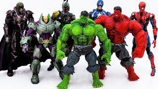 Power Rangers & Marvel Avengers Toys Pretend Play | Hulk Rescue Superhero Defeat Villains Army