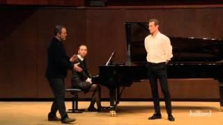 Gerald Finley Master Class, May 7, 2015: Daniel Miroslaw and Valeriya Polunina