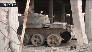 Former ISIS 'shakhid tank' construction hub shown to journalists
