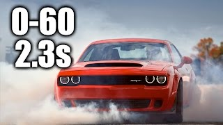 How The Dodge Demon Hits 60 MPH In 2.3 Seconds!