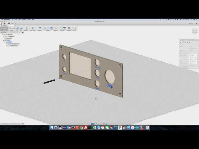 Fusion 360 - Arduino CNC Faceplate - Design to G-Code