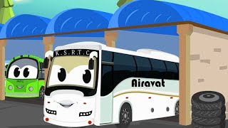 Bus   Car Wash For Kids   Car Bus And Truck Video For Kids   Digger Monster Truck & Street Vehicles