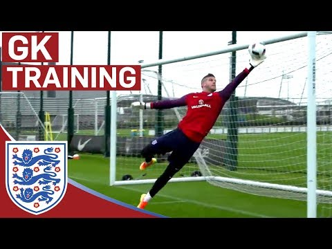 World class GK reactions from Hart, Forster & Heaton (England Goalkeepers)   Inside Training