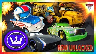 Cars 3 Driven to Win - gameplay - Jackson Storm, Mater the Greater, Miss Fritter, Chick Hicks