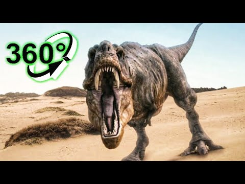 🔴 Jurassic World Evolution VR 360 Video of T-Rex Dinosaurs