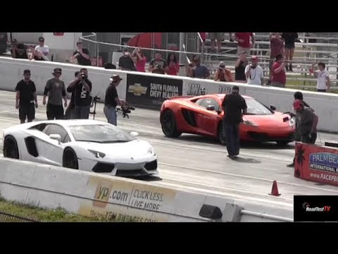 Xxx Mp4 Lamborghini Aventador V McLaren MP4 12C 1 4 Mile Drag Race X 2 StreetCarDrags Com 3gp Sex