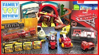 Cars 3 Toys FIRE TRUCKS Tiny Lugsworth & TONKA Vintage Fire Engine TONKA TINYS Fire Trucks for Kids