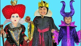 5 Halloween Costumes Disney Villains and Princesses Maleficent Queen of Hearts Evil Queen