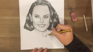 Daisy Ridley Speed Drawing