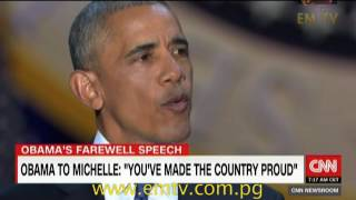 Farewell speech: Obama thanks country and family