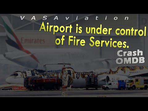 watch [REAL ATC] Emirates B777 CRASH then BURNT at Dubai OMDB!