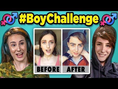 Xxx Mp4 Adults React To BoyChallenge Girls Turn Into Boys Musical Ly TikTok Compilation 3gp Sex