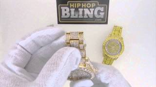 Bling Bling Watch 41MM Face Totally Iced Out HipHopBling.com
