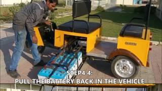 GEM E rickshaw 5 minute battery charging