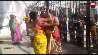 Copy of Funny Ladies Fight in india   Vemulawada   REPORTERBOX