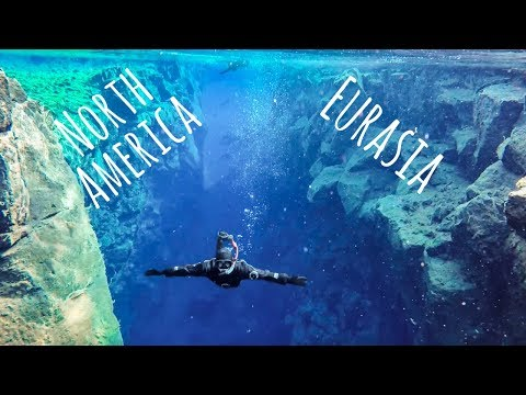 WE SWAM BETWEEN CONTINENTAL PLATES Snorkeling Silfra Iceland travel vlog