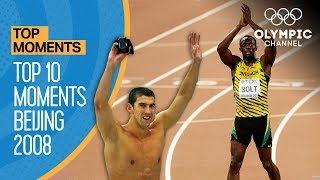 Top 10 Olympic Moments Beijing 2008 | Top Moments